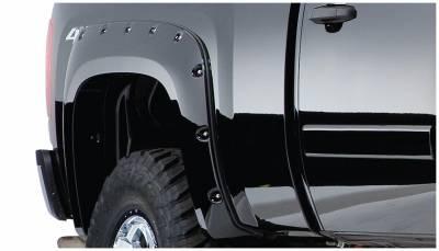 Bushwacker - Bushwacker 40092-02 Pocket Style Rear Fender Flares-Black