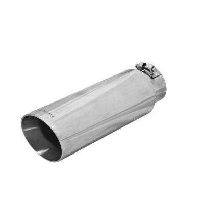 Flowmaster - Flowmaster 15398 Exhaust Pipe Tip Angle Cut Polished Stainless Steel