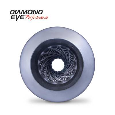 "Diamond Eye - Diamond Eye 460100 Muffler 5"" Single In Single Out Aluminized Louvered 30"" Long"