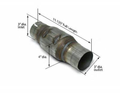 """SLP Performance - SLP Performance 301134001 High-Flow Catalytic Converter 3"""" In/Out, Each"""
