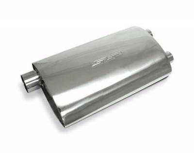 """SLP Performance - SLP Performance 310650800 3"""" Inlet/Dual 2.5"""" Outlet PowerFlo Muffler, Each"""