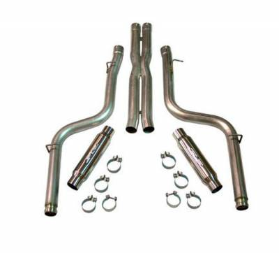 """SLP Performance - SLP Performance D31029 LoudMouth Stainless 3.0"""" Cat-Back Exhaust System"""