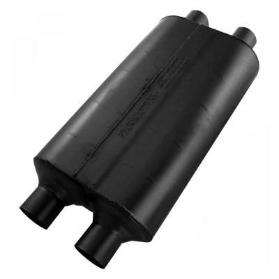 Flowmaster - Flowmaster 524554 Super 50 Series Muffler, Dual/Dual; Aluminized