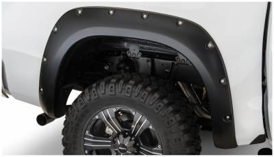 Bushwacker - Bushwacker 30024-02 Pocket Style Rear Fender Flares-Black