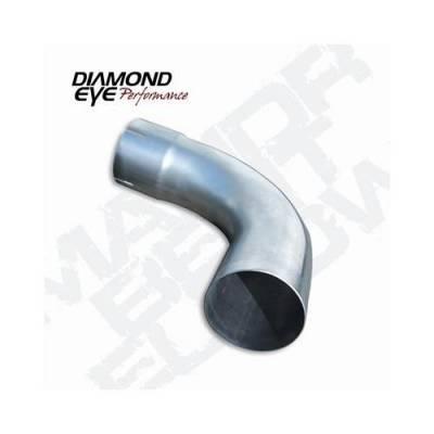 """Diamond Eye - Diamond Eye 529021 Elbow 4"""" 90 Degrees 409 Stainless Steel"""