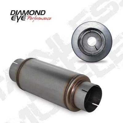 """Diamond Eye - Diamond Eye 560020 Muffler 5"""" Single In Single Out 409 Stainless Steel"""
