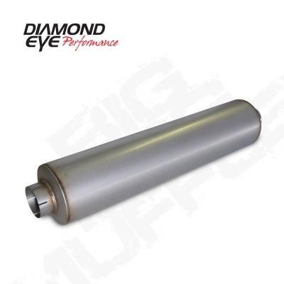 "Diamond Eye - Diamond Eye 800464 Muffler 4"" Single In Single Out Aluminized"