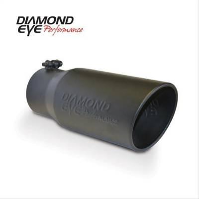 Diamond Eye - Diamond Eye 4512BRA-DEBK Tip Bolt-on Rolled Angle Cut-Diamond Eye Logo Embossed