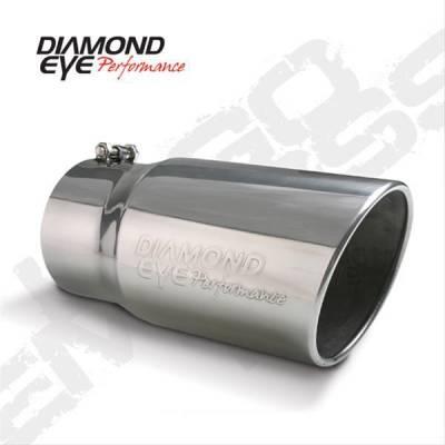 "Diamond Eye - Diamond Eye 5612BAC-DE Tip Bolt-on Angle Cut-Diamond Eye Logo Embossed 4"" Id X 5"