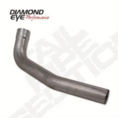 "Diamond Eye - Diamond Eye 261077 Tailpipe 2nd Section 4"" Stainless for Ram 5.9L"