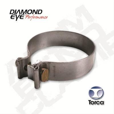 "Diamond Eye - Diamond Eye BC400S304 Clamp Torca Band Clamp 4"" 304 Stainless Steel"