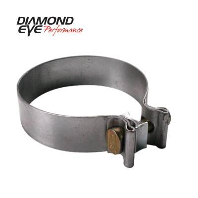 "Diamond Eye - Diamond Eye BC400S409 Clamp Torca Band Clamp 4"" 409 Stainless Steel"