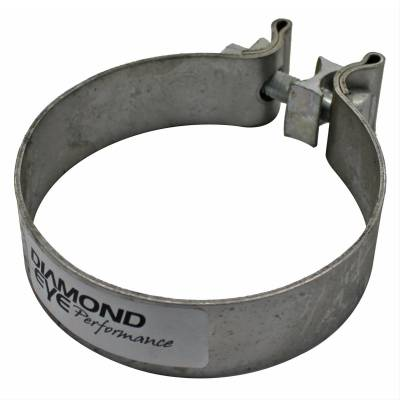 "Diamond Eye - Diamond Eye BC400S430 Clamp Torca Band Clamp 4"" 430 Bright Stainless Steel"