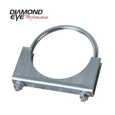 """Diamond Eye - Diamond Eye 454000 Clamp U-bolt Stlye 4"""" Zinc Coated Steel"""