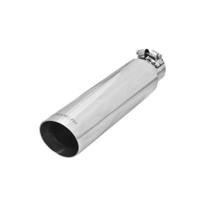 Flowmaster - Flowmaster 15372 Exhaust Pipe Tip Angle Cut Polished Stainless Steel