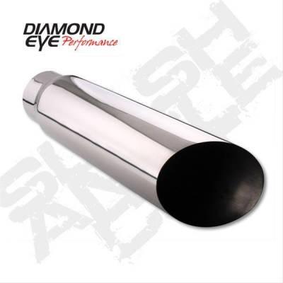 "Diamond Eye - Diamond Eye 4512BAC-DE Tip Bolt-on Angle Cut-Diamond Eye Logo Embossed 4"" Id X 5"