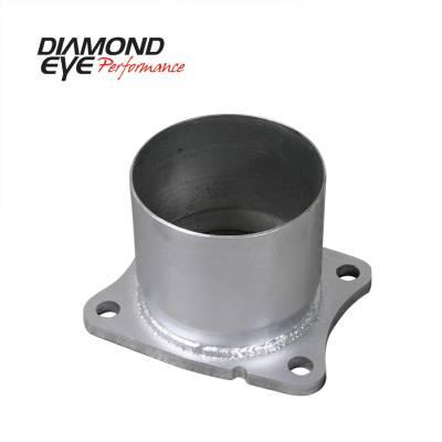 "Diamond Eye - Diamond Eye 321045 4 Bolt Adapter 4"" Aluminized 2001-2007.5 ChevyGMC 6.6L"