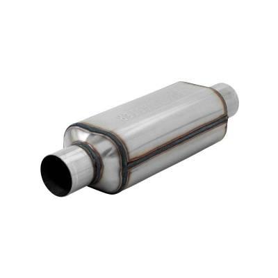 Flowmaster - Flowmaster 12512304 Super HP-2 Hushpower Muffler, Center/Center; Stainless