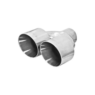 Flowmaster - Flowmaster 15391 Exhaust Pipe Tip Dual Angle Cut Polished Stainless Steel