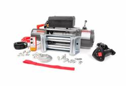 Rough Country Suspension Systems - Rough Country RS9500 9500-Lb Electric Winch Recovery System w/ Steel Cable - Image 1