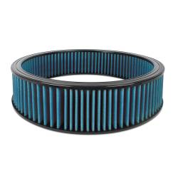 "Airaid - Airaid 803-404 Round Performance Air Filter; 16""OD x 4.0"" H; Blue Dry Filter - Image 1"