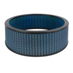 """Airaid - Airaid 803-414 Round Performance Air Filter; 16""""OD x 5.0"""" H; Blue Dry Filter - Image 1"""