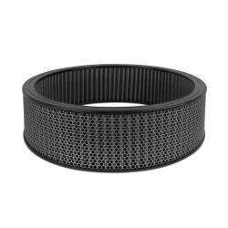 """Airaid - Airaid 802-413 Round Performance Air Filter; 16""""OD x 4.0"""" H; Black Dry Filter - Image 1"""