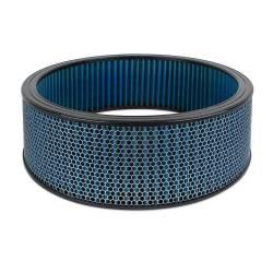 """Airaid - Airaid 800-420 Round Performance Air Filter; 16""""OD x 5.0"""" H; Blue Cotton - Image 1"""
