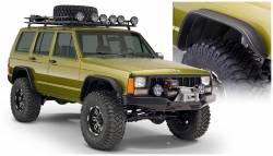 Bushwacker - Bushwacker 10922-07 Flat Style Front/Rear Fender Flares-Black - Image 1