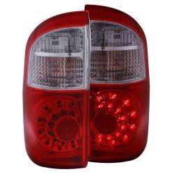 Anzo USA - Anzo USA 311060 Chrome LED Tail Light Set-Red/Clear Lens - Image 1