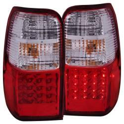 Anzo USA - Anzo USA 311070 Chrome LED Tail Light Set-Red/Clear Lens - Image 1