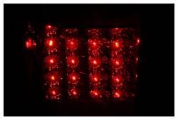 Anzo USA - Anzo USA 311070 Chrome LED Tail Light Set-Red/Clear Lens - Image 2