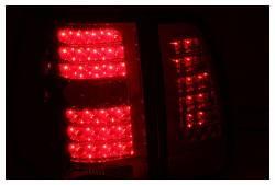 Anzo USA - Anzo USA 311076 Chrome LED Tail Light Set-Red/Clear Lens - Image 2