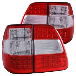 Anzo USA - Anzo USA 311094 Chrome LED Tail Light Set-Red/Clear Lens - Image 1