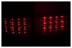 Anzo USA - Anzo USA 311094 Chrome LED Tail Light Set-Red/Clear Lens - Image 2