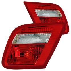 Anzo USA - Anzo USA 221164 Chrome Euro Tail Light Set-Red/Clear Lens - Image 1