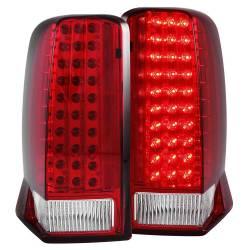 Anzo USA - Anzo USA 311120 Chrome LED Tail Light Set-Red/Clear Lens - Image 1
