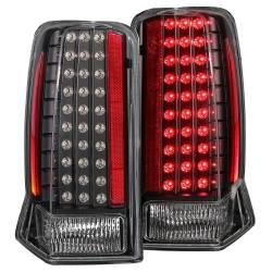 Anzo USA - Anzo USA 311121 Black LED Tail Light Set-Clear Lens - Image 1