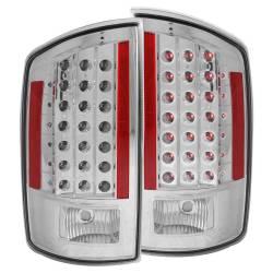 Anzo USA - Anzo USA 311122 Chrome LED Tail Light Set-Clear Lens - Image 1
