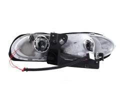 Anzo USA - Anzo USA 121025 Crystal Headlight Set w/ LED Halo-Chrome - Image 3