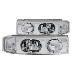 Anzo USA - Anzo USA 111001 Crystal Headlight Set-Chrome - Image 1