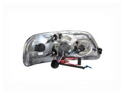Anzo USA - Anzo USA 111032 Projector Headlight Set w/ LED Halo-Chrome - Image 3