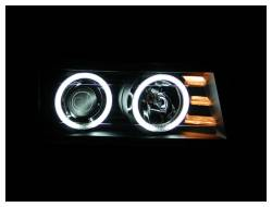 Anzo USA - Anzo USA 111079 Projector Headlight Set w/ CCFL Halo-Black - Image 2