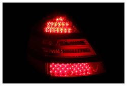 Anzo USA - Anzo USA 321142 Chrome LED Tail Light Set-Red/Clear Lens - Image 2