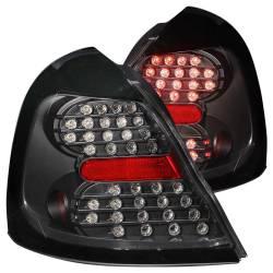 Anzo USA - Anzo USA 321150 Black LED Tail Light Set-Clear Lens - Image 1