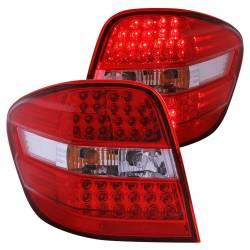 Anzo USA - Anzo USA 321053 Chrome LED Tail Light Set-Red/Clear Lens - Image 1