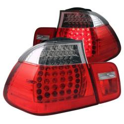 Anzo USA - Anzo USA 321096 Chrome LED Tail Light Set-Red/Clear Lens - Image 1