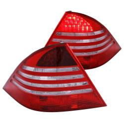 Anzo USA - Anzo USA 321055 Chrome LED Tail Light Set-Red/Clear Lens - Image 1