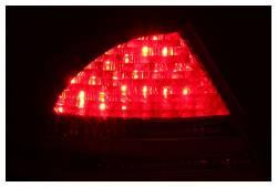 Anzo USA - Anzo USA 321055 Chrome LED Tail Light Set-Red/Clear Lens - Image 2