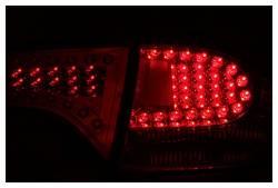 Anzo USA - Anzo USA 321077 Chrome LED Tail Light Set-Red/Clear Lens - Image 2